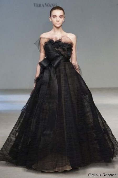 2013 Wedding Trend The Black Wedding Gown Style To The Aisle