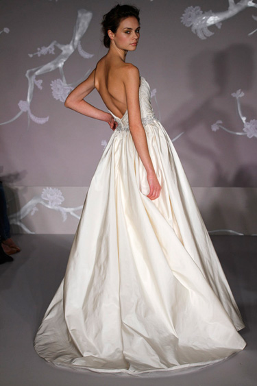 jim-hjelm-bridal-silk-taffeta-strapless-ball-gown-draped-floral ...