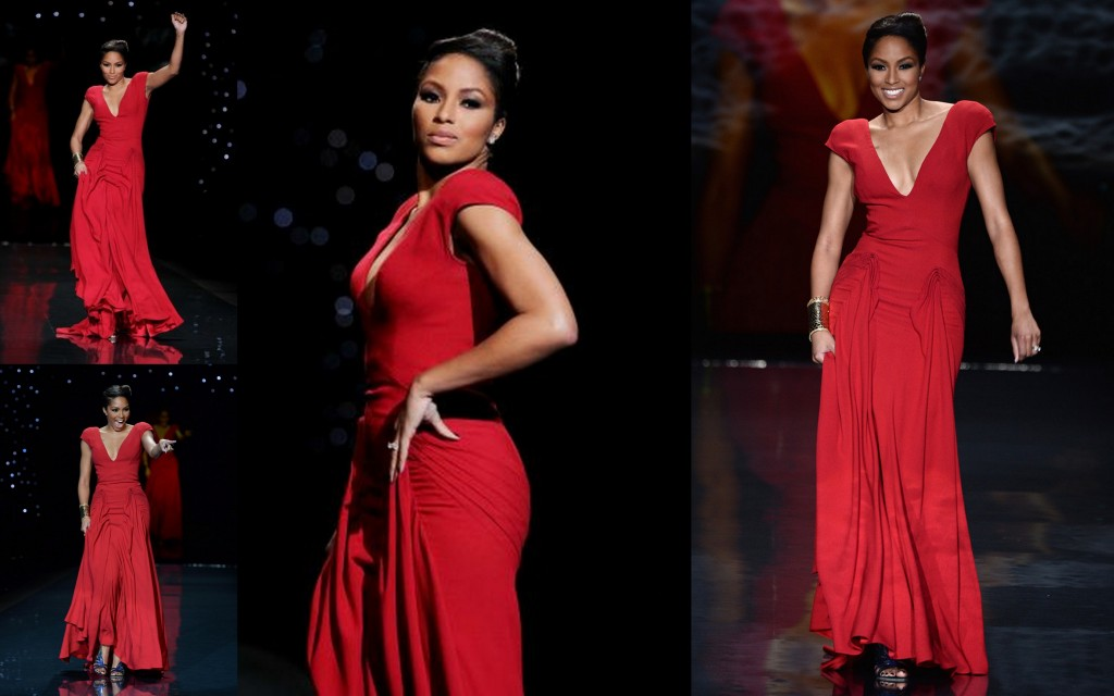 Simply Stunning! Alicia Quarrel In Zac Posen for Go Red For Women The Heart Truth Red Dress Collection Show 2014