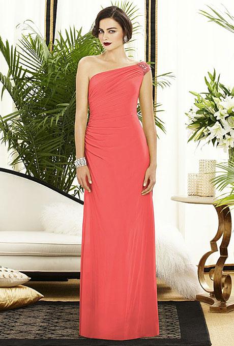 pink-bridesmaids-dresses-styles-dessy-pink-long-one-shoulder-bridesmaids-dress-2884