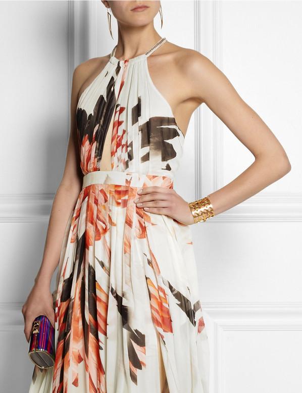 Summer Style: Roberto Cavalli Printed Maxi Dress