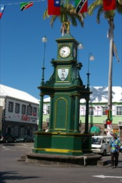 The circus clock in Basseterre.