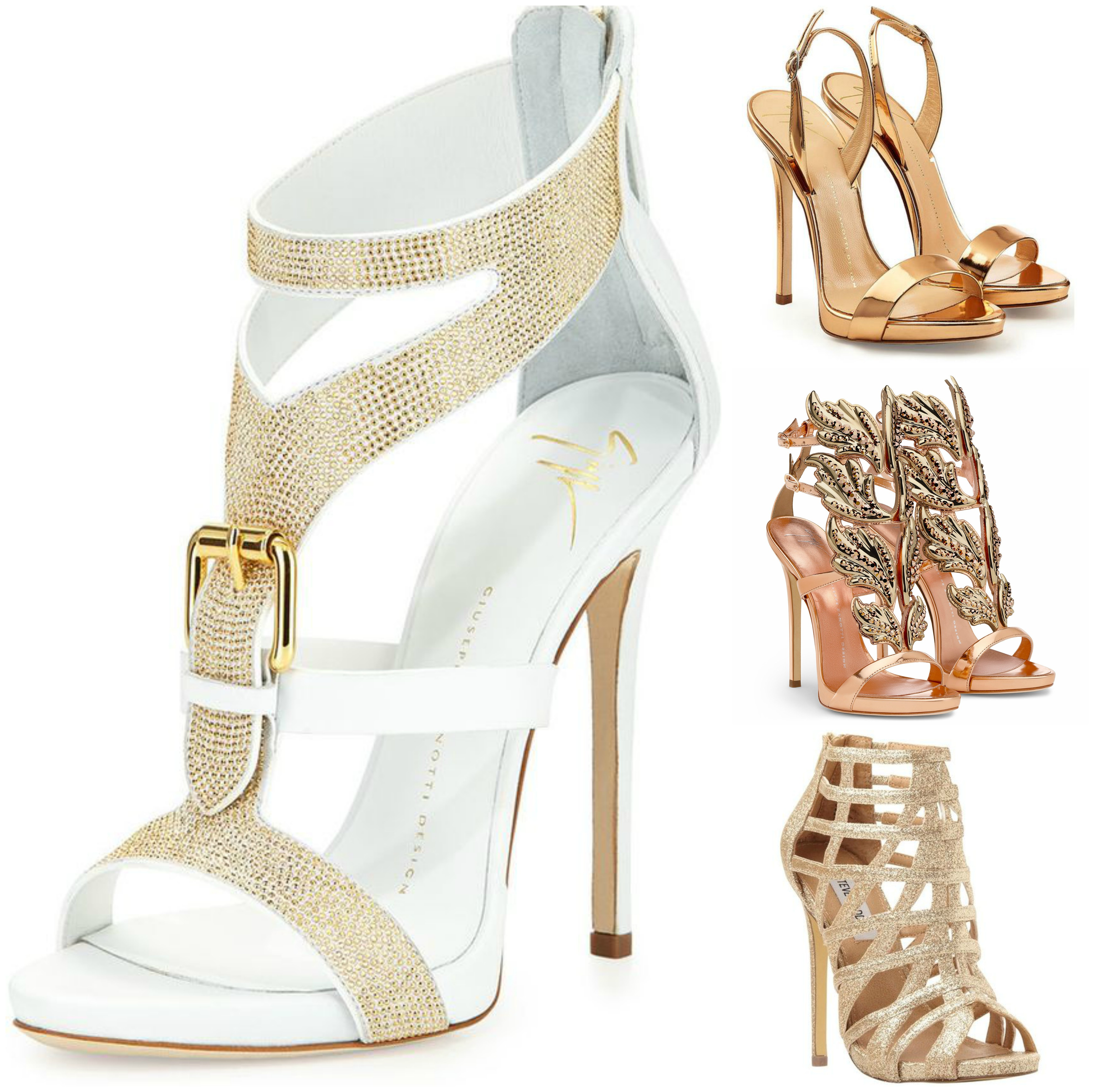 Buy Gold trend and lace heels pictures trends