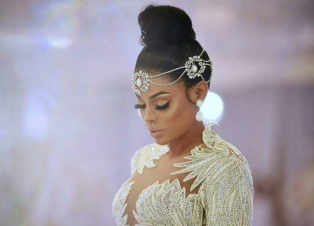 Keyshia Ka'Oir Wows In a Custom Charbel Zoe Wedding Gown